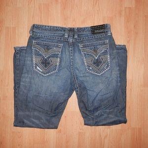 Affliction Mens 36 Regular Grant Distressed Jeans